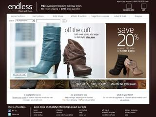 Go to endless.com website.