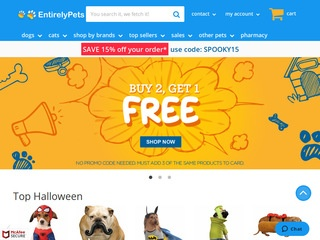 Go to entirelypets.com website.