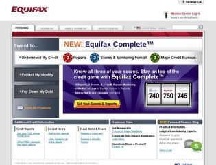Go to equifax.com website.