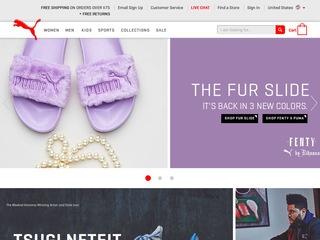 Go to Puma USA website.
