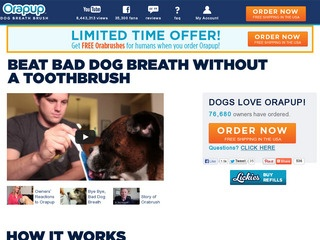 This is what the orapup.com website looks like.