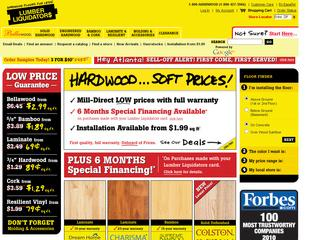 Go to lumberliquidators.com website.
