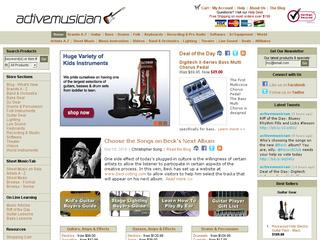 This is what the activemusician.com website looks like.