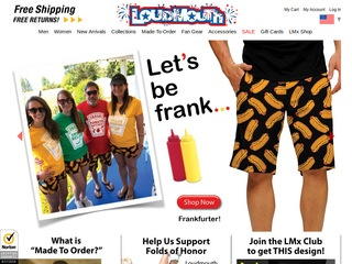 Go to loudmouthgolf.com website.