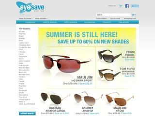This is what the eyesave.com website looks like.