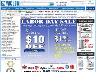Go to ezvacuum.com website.
