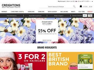 Go to creightons.com website.