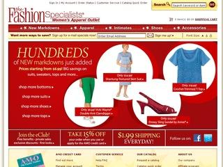 This is what the fashionspecialists.com website looks like.