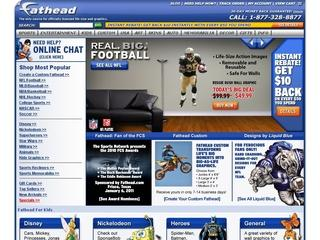 Go to fathead.com website.