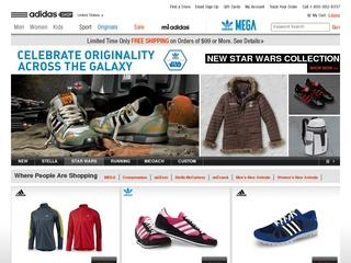 This is what the thestore.adidas.com website looks like.
