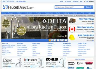 This is what the faucetdirect.com website looks like.