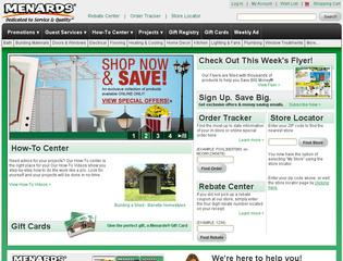 Go to menards.com website.