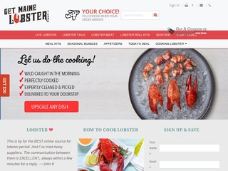 Go to Get Maine Lobster website.