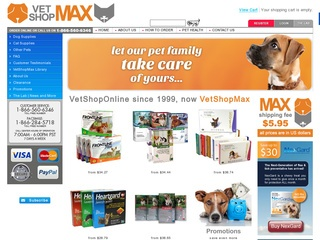 Go to vetshopmax.com website.