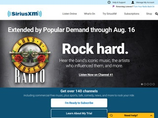 Go to siriusxm.com website.