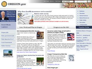 Go to oregon.gov website.