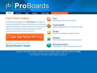 This is what the proboards.com website looks like.