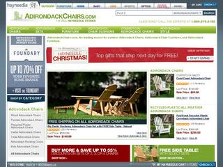 This is what the adirondackchairs.com website looks like.
