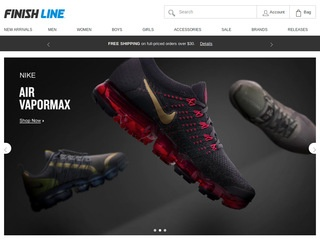 Go to finishline.com website.