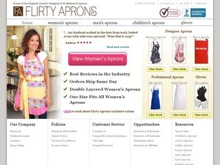 Go to flirtyaprons.com website.