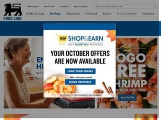 Go to foodlion.com website.