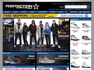 This is what the footaction.com website looks like.
