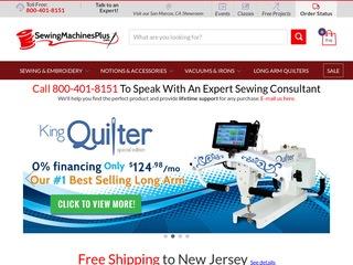 Go to sewingmachinesplus.com website.