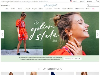 Go to freepeople.com website.