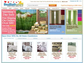This is what the bedbathstore.com website looks like.