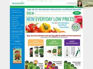 This is what the aerogardenstore.com website looks like.