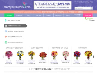 Go to fromyouflowers.com website.