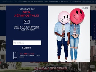 Go to aeropostale.com website.