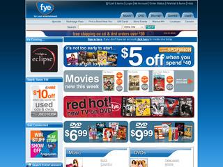This is what the fye.com website looks like.