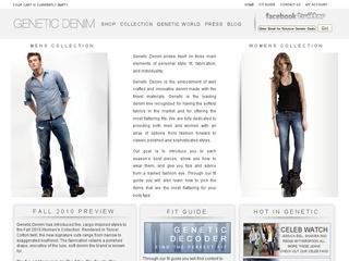 Go to geneticdenim.com website.