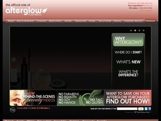 This is what the afterglowcosmetics.com website looks like.