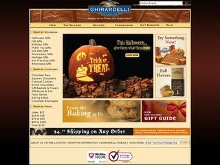 This is what the shop.ghirardelli.com website looks like.