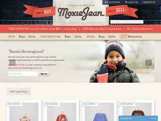 Go to moxiejean.com website.