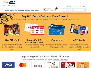 Go to giftcards.com website.