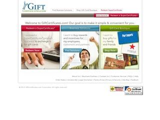 Go to giftcertificates.com website.