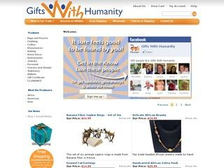 Go to giftswithhumanity.com website.