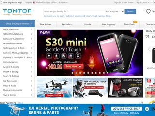 Go to tomtop.com website.