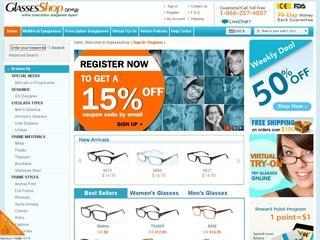 Go to glassesshop.com website.