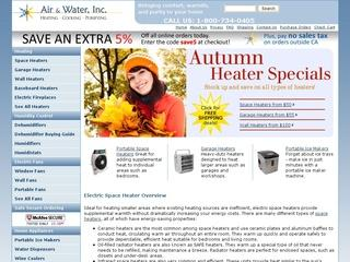 This is what the air-n-water.com website looks like.