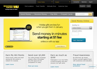 This is what the westernunion.com website looks like.