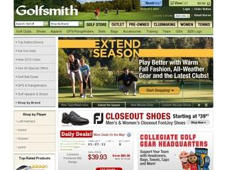 Go to golfsmith.com website.