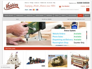 Go to hobbies.co.uk website.