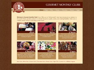 This is what the gourmetmonthlyclubs.com website looks like.