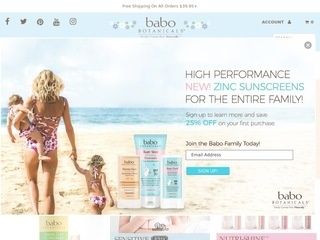 Go to Babo Botanicals website.