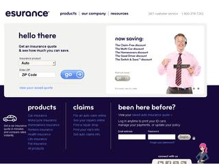 Go to esurance.com website.